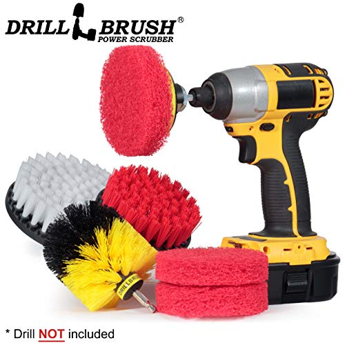 Cleaning Supplies - Bathroom Accessories - Drill Brush - Scouring Pad - Shower Cleaner - Bath Mat - Tile - Bathtub - Sink - Shower Door - Grout Cleaner - Kitchen Accessories - Outdoor - Scrub Brush