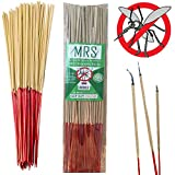 MRS Mosquito Repellent Sticks Citronella Lemongrass – 15″ Insect Repellent Incense Sticks – 100% Natural – Burn 40 Mins Each – 60 Hours – BEST VALUE (Pack of 90)