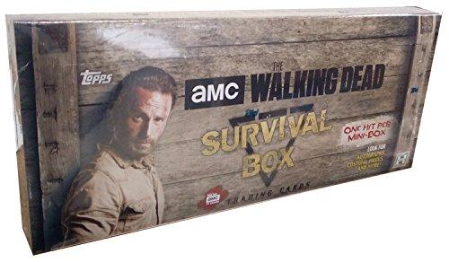 2016 Topps Walking Dead Survival Hobby Box - 4 packs / 5 cards -