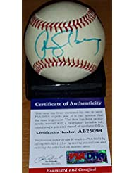 Signed Ryne Sandberg Baseball - Vintage rookie era Feeney HOF - PSA DNA Certified - Autographed Base