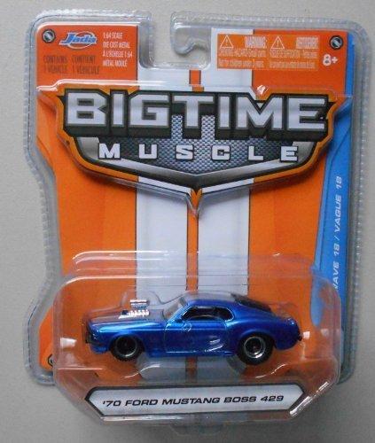 Jada Bigtime Muscle 1/64 Blue '70 Ford Mustang Boss 429 by Jada - 70 Boss 429 Mustang