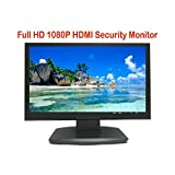 "101AV Security Monitor 19.5"" True Full HD Monitor 1920 x 1080 HDMI VGA and Looping BNC outputs LED Wide Screen Audio Video Display Built-in Speaker for DVR (19.5"" Monitor 3D Comb Filter)"