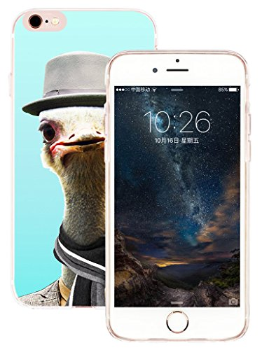 Iphone 6S Plus Case & Cover For Iphone 6 Plus & MUQR Replacement Skin Rubber Gel Silicone Slim Drop Proof Protection Protector For Iphone 6 & 6S Plus & Funny Mr Ostrich Animal Pattern