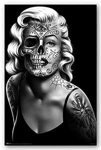 (22x34) Daygirl (Skull Face) Art Poster Print