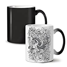 Epic Unicorn Horse Mythical Black Colour Changing Tea Coffee Ceramic Mug 11 oz | Wellcoda