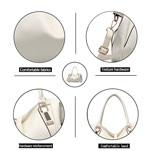 Fashion Shoulder Messenger Bag Messenger Leather 2018 Bag White New Tisdaini Ladies Soft Women's Handbag Iw1pAxPaqn