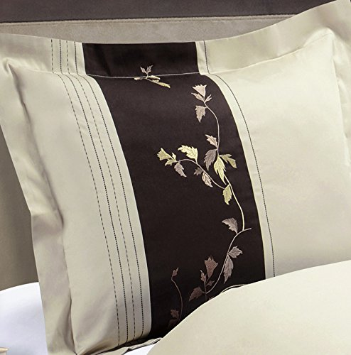 Fall Festive Deluxe Embroidered Standard Sized sham(Pair); 210tc Fabric from 100-percent Pure Egyptian ()