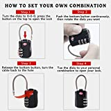 Hovinso TSA Lock Approved Combination Luggage Cable (2 Pack) Travel Gym Bag Locks Set for Suitcase Luggage Tags