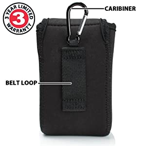 USA Gear Handheld GPS Case Holster for Garmin Approach G6 , eTrex 20x , eTrex 30x , Oregon 650 , Monterra Wi-Fi and More with Belt Loop , Carabiner Clip and Scratch-Resistant Neoprene