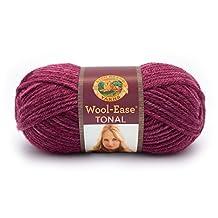 Lion Brand Yarn 635-112 Wool-Ease Tonal Yarn, Raspberry