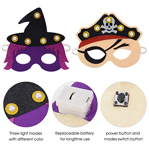 ZOYLINK Caretas Infantiles, LED Caretas Halloween Careta para Niños Caretas Animales Caretas Carnaval Disfraz Caretas Carton Cosplay Fiesta