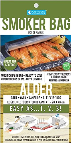 Smoker Bags - Set of 6 Alder Smoking Bags for Indoor or Outdoor Use - Easily Infuse Natural Wood Flavor