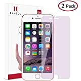 Kantou for iPhone 8 Plus/iPhone 7 Plus [Anti-Blue Light Ray] Screen Protector, 2 Packs Eye Protect Tear Tempered Glass Screen Protector Compatible for iPhone 7 Plus/iPhone 8 Plus, Anti-Fingerprint