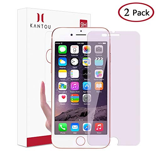 Kantou for iPhone 8 Plus/iPhone 7 Plus [Anti-Blue Light Ray] Screen Protector, 2 Packs Eye Protect Tear Tempered Glass Screen Protector Compatible for iPhone 7 Plus/iPhone 8 Plus, Anti-Fingerprint ()