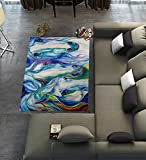 Custom Horse Art Area Rugs Carpet,Horse Art Modern Carpet Floor Rugs Mat for Home Living Dining Room Playroom Decoration Size 5'x3'3″