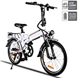 Cheap Aceshin Folding Electric Bike with 36V 8AH Removable Lithium-Ion Battery Lightweight Electric City Bike with 250W Motor and Battery Charger (20″)