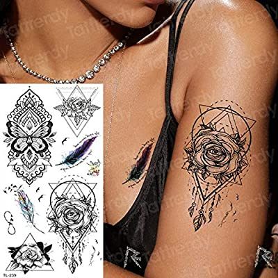 3ps-Tattoo Sternbone Tattoo Sticker Mujer Tatuaje y Body Art ...