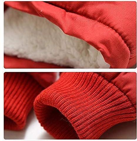 LIUONE Boys Warm Winter Thick Hooded Warm Winter Fleece Coat Thick Cotton-Padded Parka Jacket