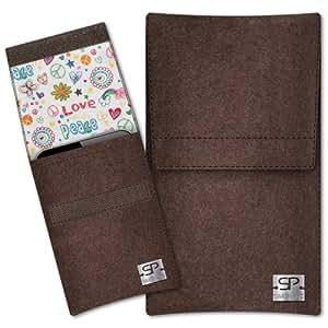 SIMON PIKE Cáscara Funda de móvil Sidney 9 marrón Samsung GALAXY Trend Plus Fieltro de lana