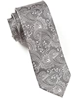100% Woven Silk Charcoal Paisley Tie