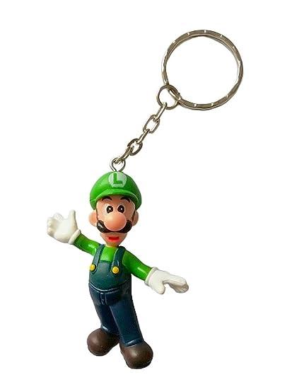 Desconocido Super Mario Bros Llavero Figura 3D Luigi - 5 cm ...