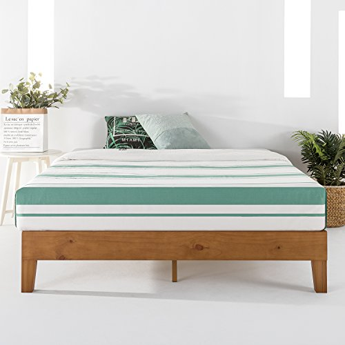 "Mellow 12"" Solid Wood Platform Bed Frame w/Grand Wooden Slat (No Box Spring Needed), Twin, Natural"