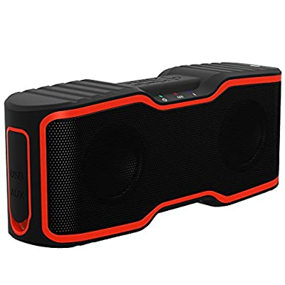 AOMAIS Sport II Portable Wireless Bluetooth Speakers with Waterproof IPX7 Floating,20W Bass Sound,Stereo Pairing,Durable Design for iPhone 7/iPod/iPad/Phones/Tablet/Laptop
