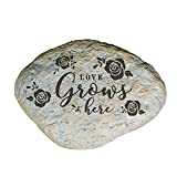 GiftsForYouNow Engraved Love Grows Here Family Garden Stone