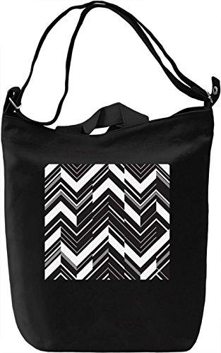 Black and White Texture Borsa Giornaliera Canvas Canvas Day Bag| 100% Premium Cotton Canvas| DTG Printing|