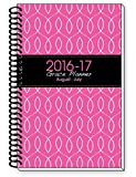 2016-17 Pink Inspirational Christian Daily Planner August Through July Day Planners Weekly Monthly Organizer Agenda, 6 x 9