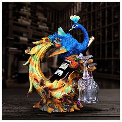 venta mundialmente famosa en línea BAIF Estante de de de la Botella de Vino Tinto Europeo decoración Minimalista hogar Moderno Pavo Real Sala de Estar decoración del gabinete del Vino exhibición  ¡no ser extrañado!