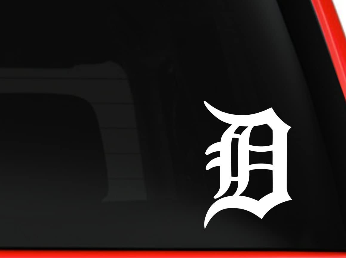 Vinyl Laptop Decal Bumper Sticker Tigers Baseball Old English Detroit D