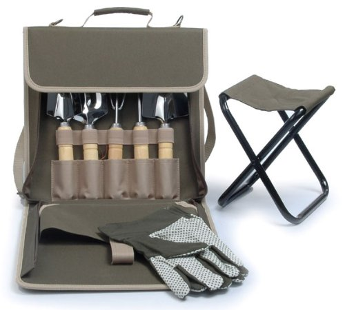 (The Terrace Carrier Gardening Bag with Tools and Folding Stool)