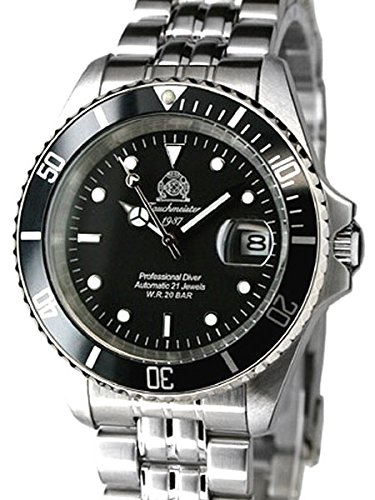 Tauchmeister Classic Automatic Dive Watch with Screw-Down Crown T0006 by Tauchmeister
