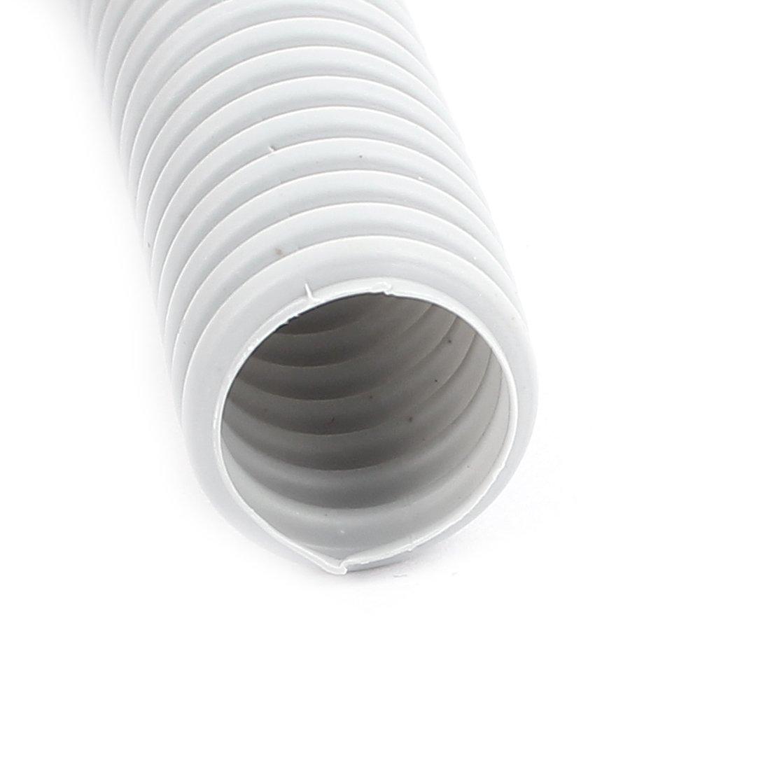 sourcingmap/® Gris de pl/ástico de 16 mm x 12 mm flexible corrugado conducto manguera del Tubo largo 7.3M