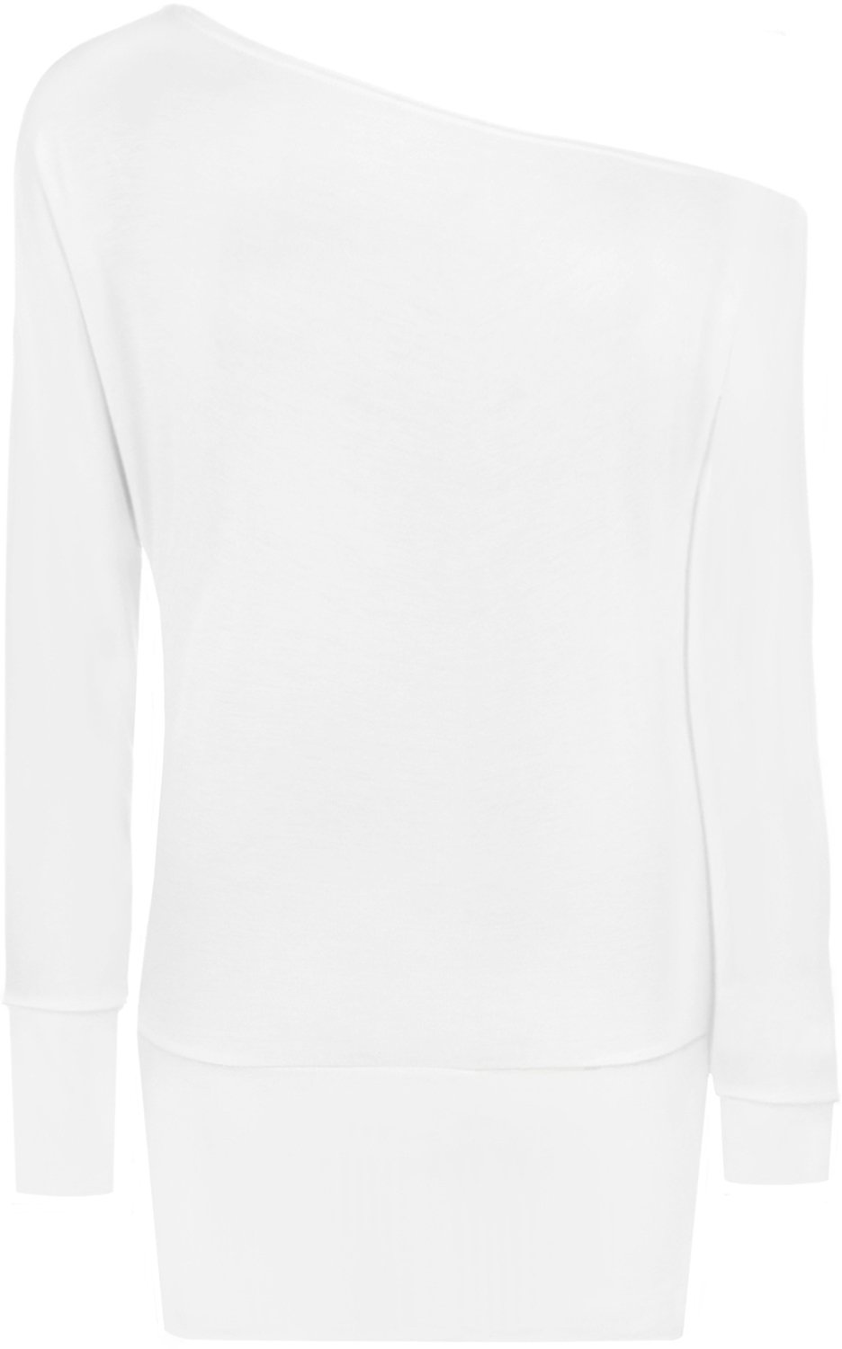 WearAll Women's Off-Shoulder Batwing Top - White - US 4-6 (UK 8-10)