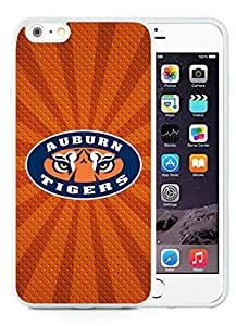 CMS Unique and Attractive iPhone 6 plus 5.5 inch TPU Cases Design with auburn tigers in White