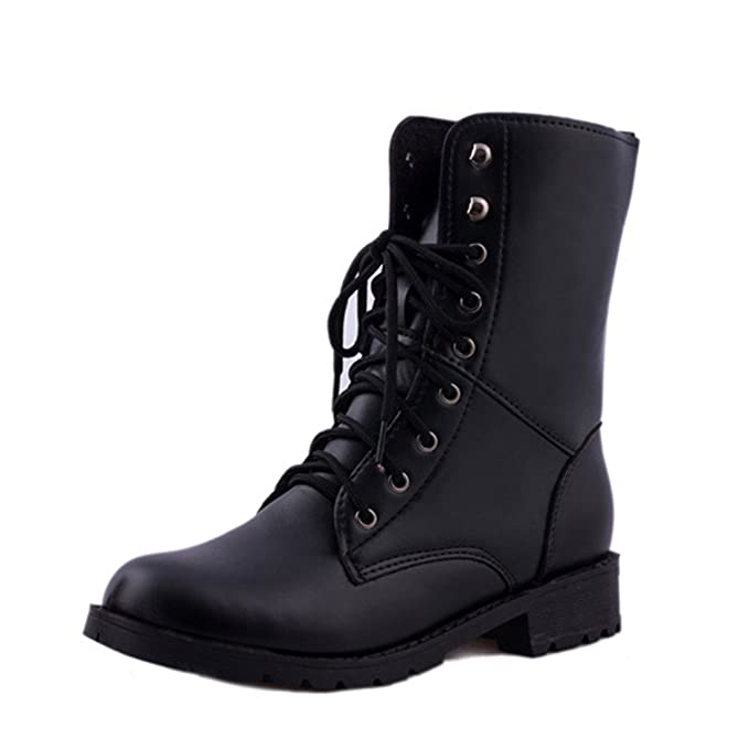 best sneakers 2e759 ee44c Btruely Stiefel Damen Winter Herbst Schuhe Mode Mädchen Dicke Stiefel Warme  Schuhe Slouchy Schnürstiefel