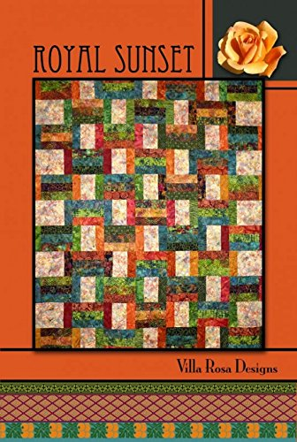 Villa Rosa Royal Sunset Quilt Postcard Quilting Pattern (Sunset Quilt Pattern)