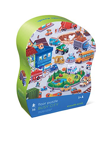 (Crocodile Creek 4075-6 Busy City Observation Floor Puzzle (36 Piece))