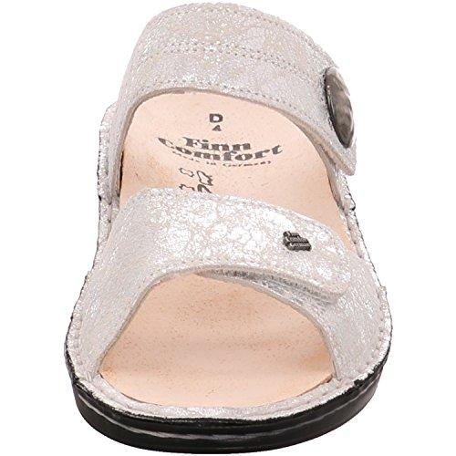Finn para Blanco vestir de Piel beige de blanco mujer Beige 02679497142 Sandalias Comfort f0qrzSf
