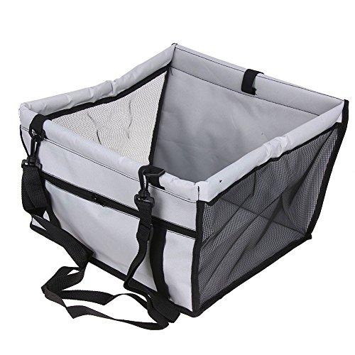 Guizen-Housse de Siège transport pour animal domestique avec ceinture de sécurité ,Imperméable et respirant tapis de coussin de voiture pour chien et chat(Gris)