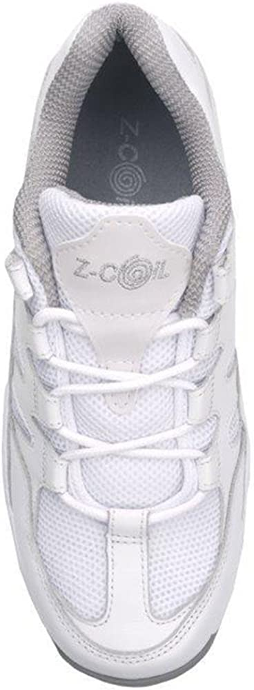 Z-CoiL Women's Freedom Slip Resistant Enclosed Coil Leather Tennis Shoe White