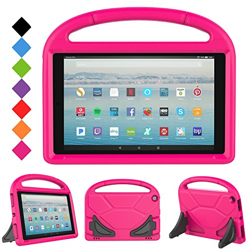 LTROP All-New Kid-Proof Case for Amazon Fire HD 10 Tablet (7th Generation, 2017 Release), Rose