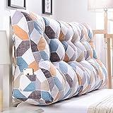 Bedside Double Pillow/ Cushions Bedside Pattern Fiber Fabric Pad (multi-color / Multi-size Optional) ( Color : B , Size : 15060cm )