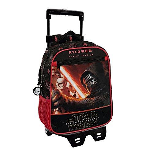 Disney Star Wars Kindergartenrucksack mit Trolley, 6.44 Liter, Schwarz