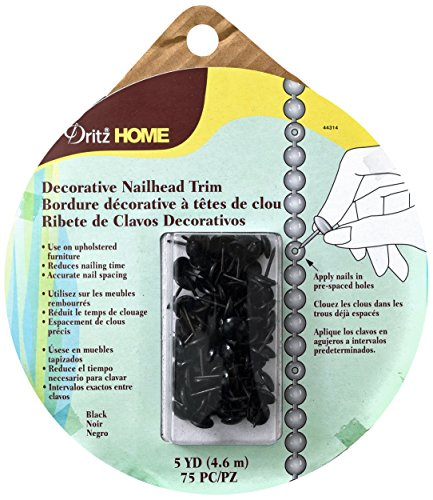 Dritz Home Trim Nailhead Blk 5yds Decorative 5 Yds. , 5 y...