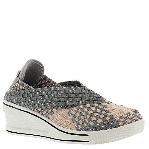 Bernie Mev Womens Deluxe Lage Top Slip Op Fashion Sneakers Blush / Heather Grey