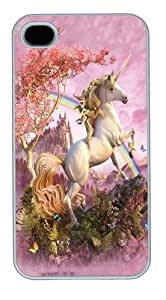 Case For HTC One M7 Cover,Awesome Unicorn PC Case For HTC One M7 Cover White