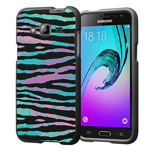 Galaxy J3 Case, Galaxy Amp Prime Case, Galaxy Express Prime Case, Capsule-Case Snap-on (Black) Hard Case for SM-J320 Samsung Galaxy J3 2016 / Amp Prime / Express Prime- (Colorful Zebra)